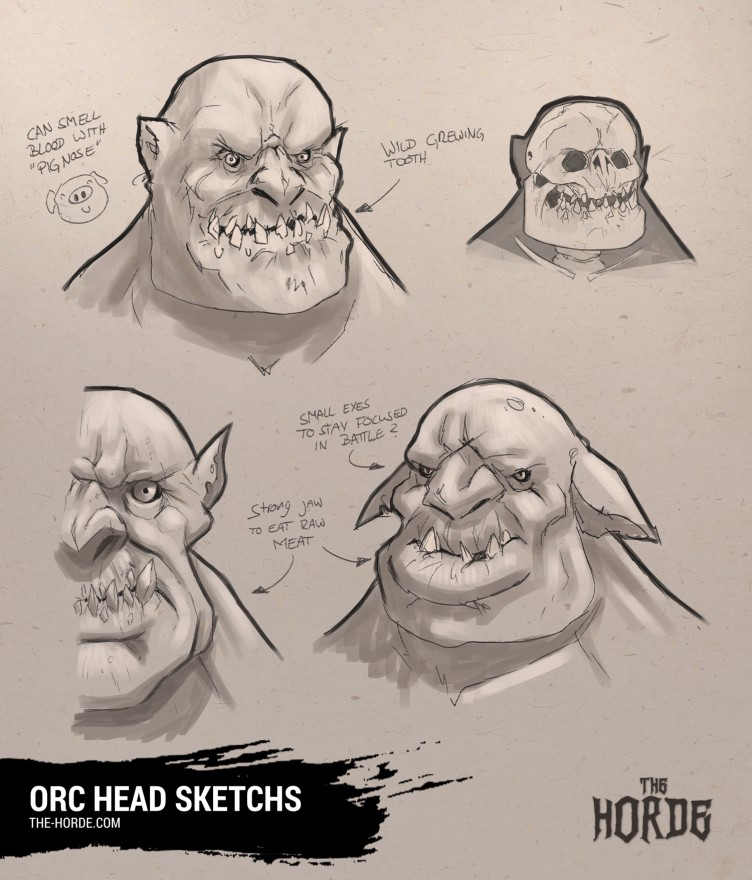 Orc head sketches